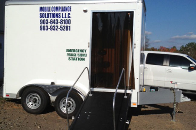 Emergency Eye Wash and Show Trailer, Texas - Oil & Gas Safety - Taylor Safety - Longview, TX